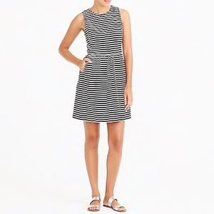 J.Crew factory striped pleated ponte dress
